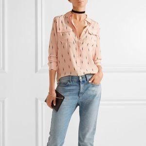 Kate Moss x Equipment silk blouse size M
